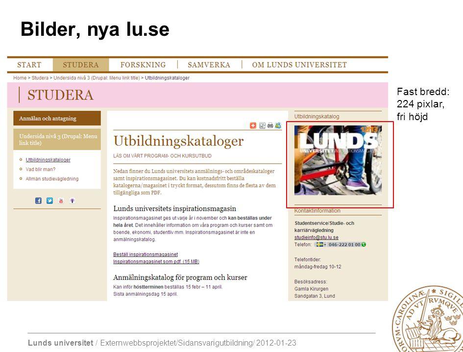 Bilder, nya lu.se Fast bredd: 224 pixlar, fri höjd
