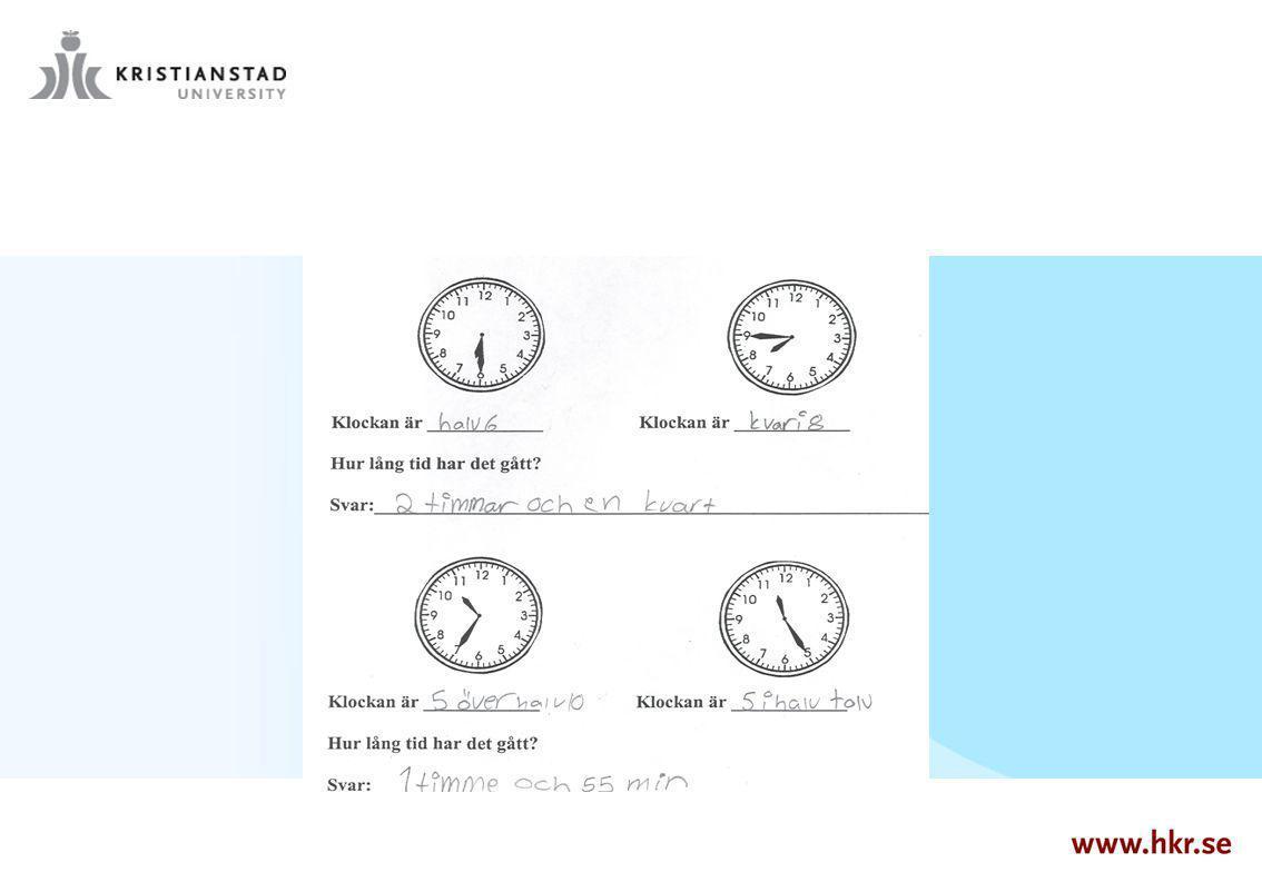 Finns elever som avläser klockan fel, men ändå får rätt på hur lång tid det har gått mellan de två klockslagen.