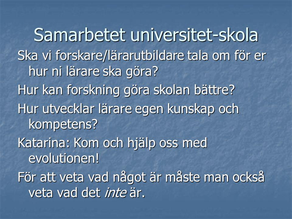 Samarbetet universitet-skola