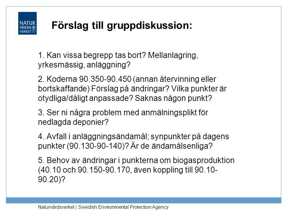 Förslag till gruppdiskussion:
