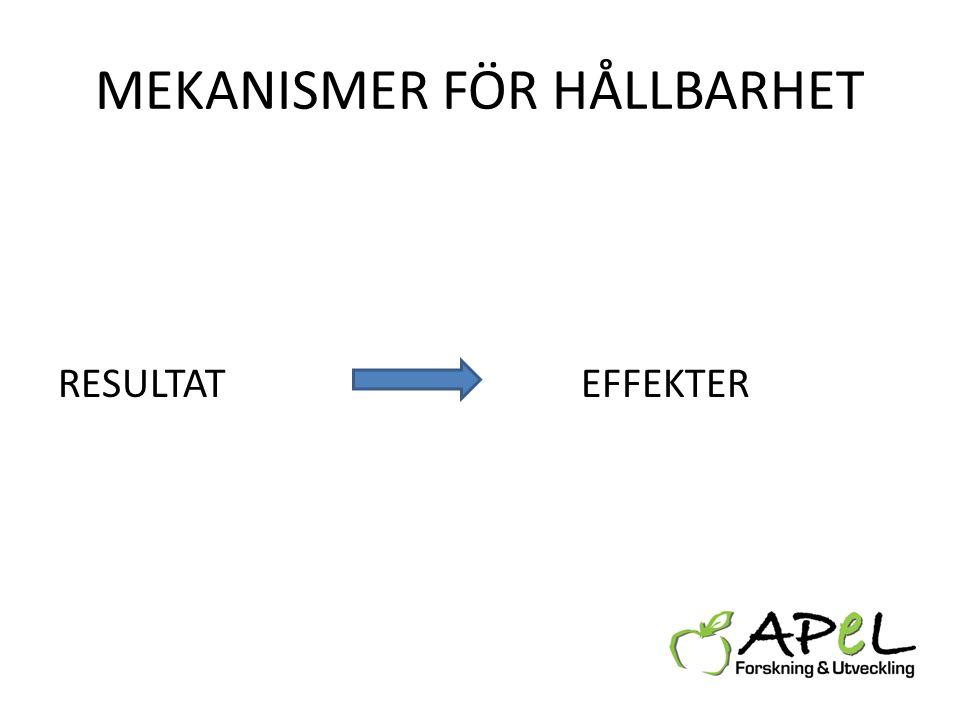 MEKANISMER FÖR HÅLLBARHET