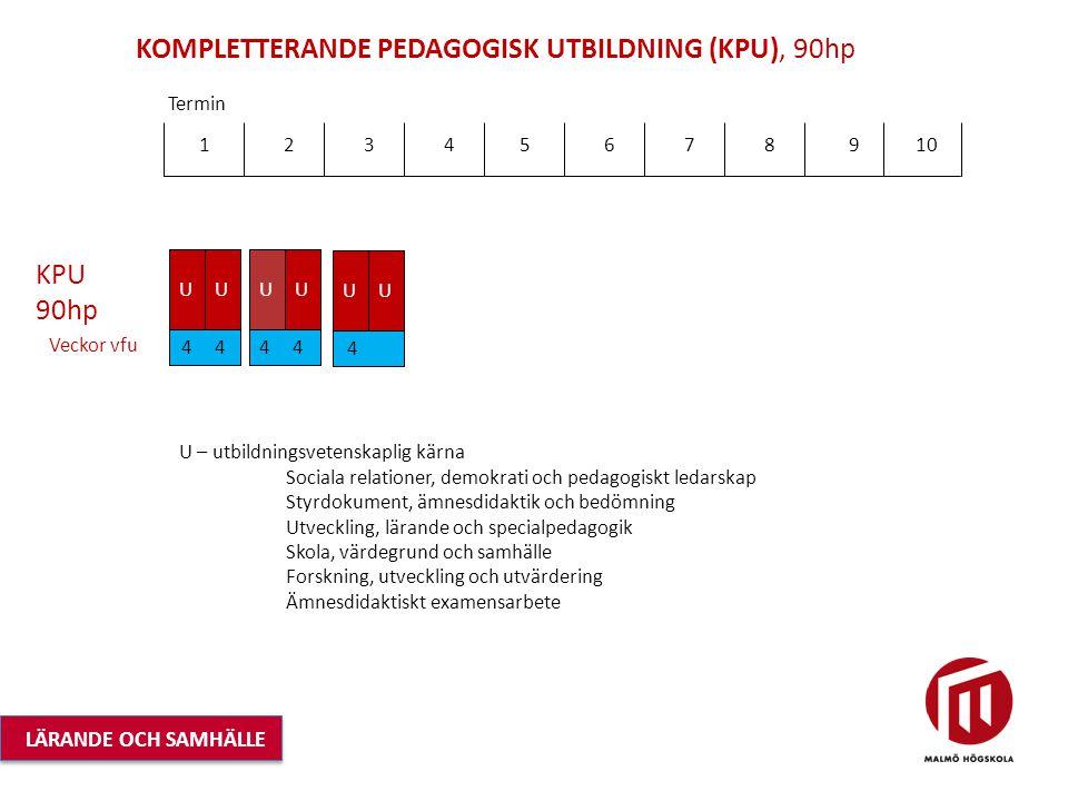 KOMPLETTERANDE PEDAGOGISK UTBILDNING (KPU), 90hp