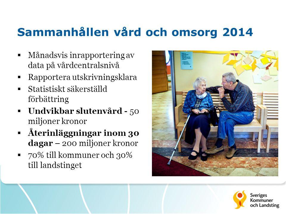 Sammanhållen vård och omsorg 2014