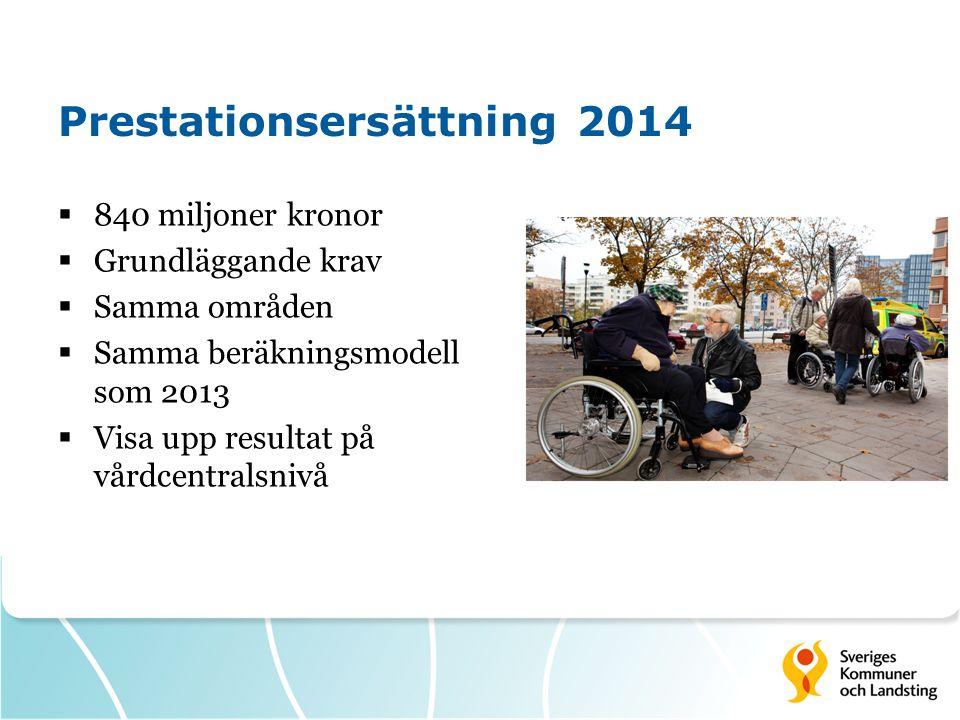 Prestationsersättning 2014