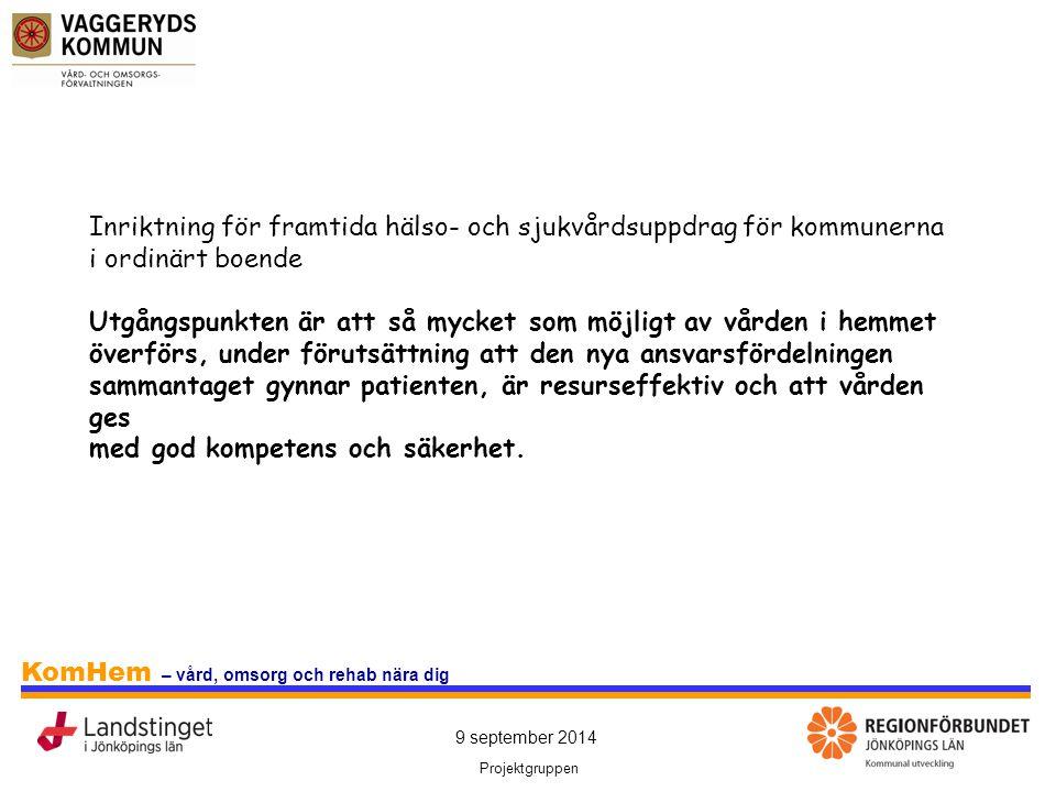 Inriktning för framtida hälso- och sjukvårdsuppdrag för kommunerna i ordinärt boende