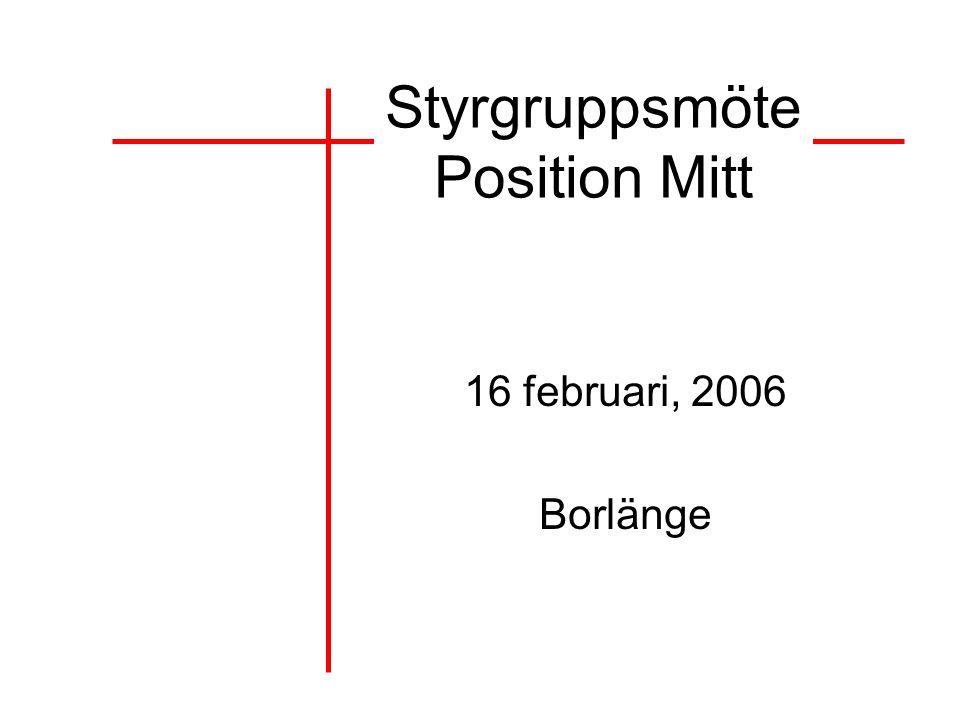 Styrgruppsmöte Position Mitt