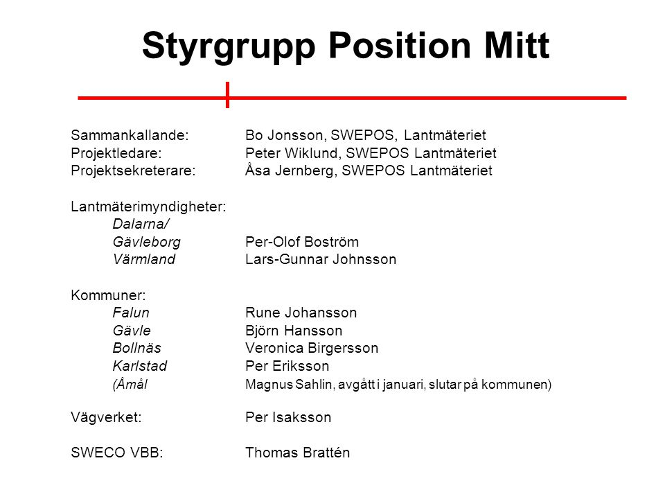Styrgrupp Position Mitt