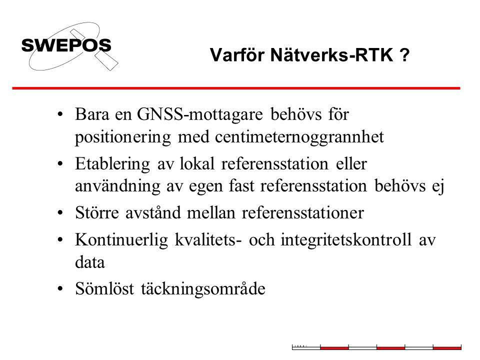 Varför Nätverks-RTK Bara en GNSS-mottagare behövs för positionering med centimeternoggrannhet.