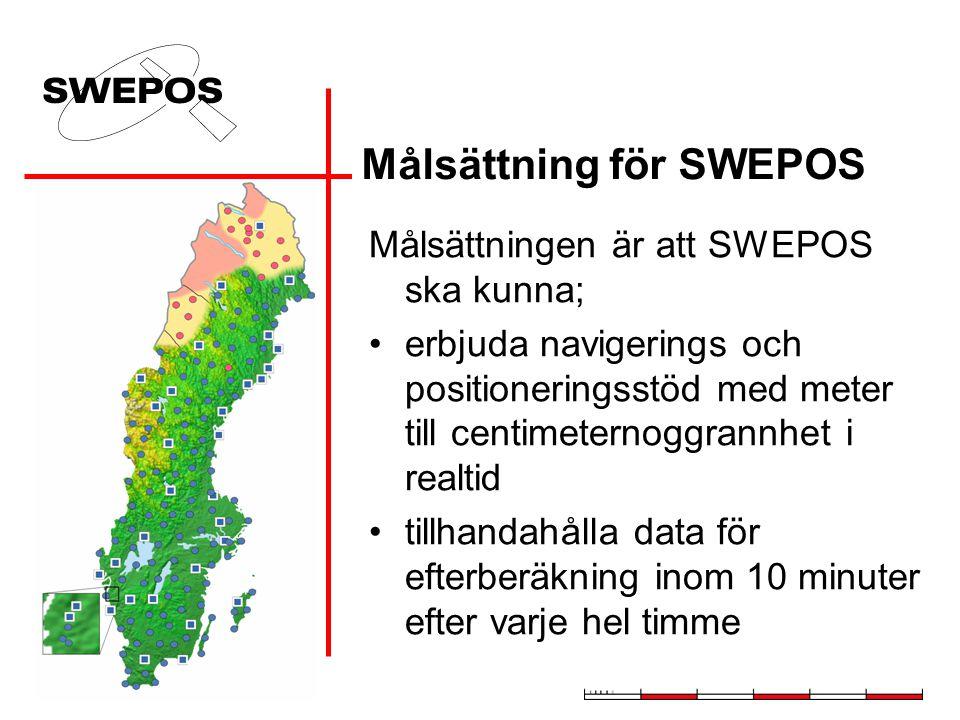 Målsättning för SWEPOS