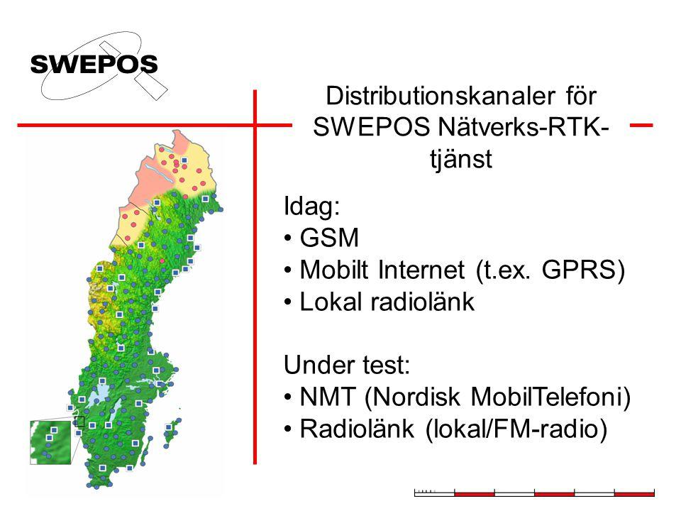 Distributionskanaler för SWEPOS Nätverks-RTK-tjänst