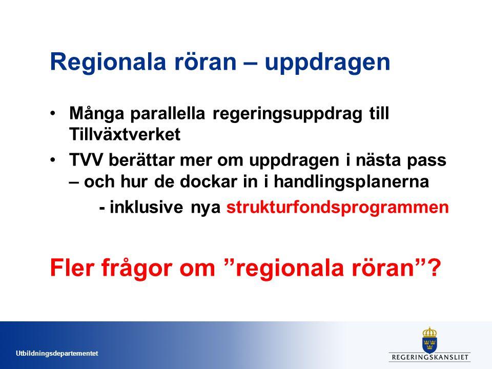 Regionala röran – uppdragen
