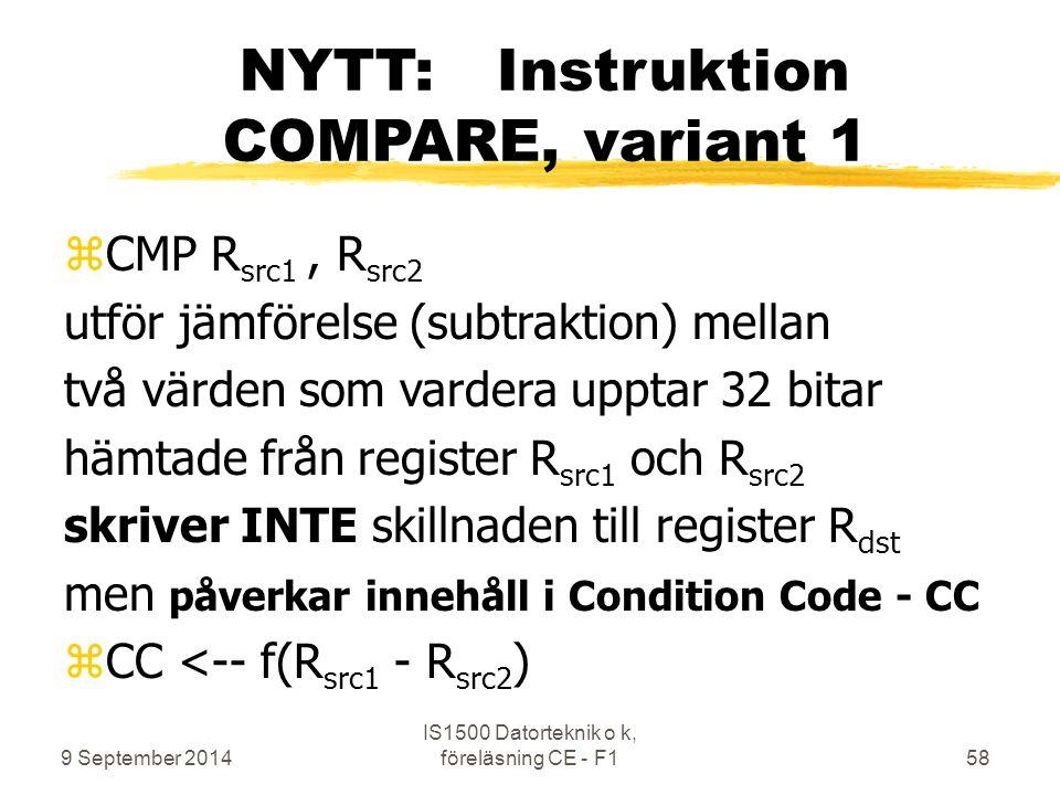NYTT: Instruktion COMPARE, variant 1