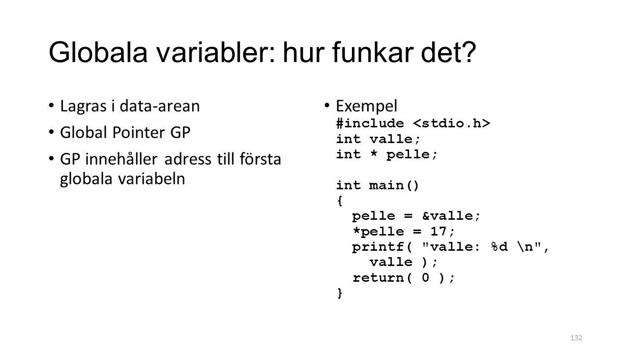 Globala variabler: hur funkar det