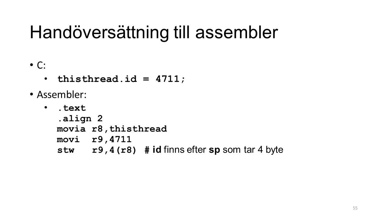 Handöversättning till assembler