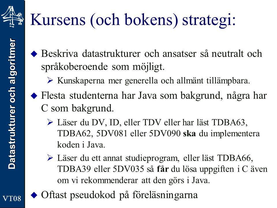 Kursens (och bokens) strategi: