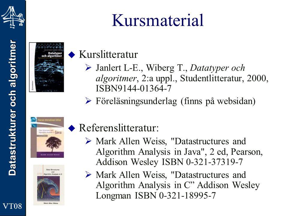 Kursmaterial Kurslitteratur Referenslitteratur:
