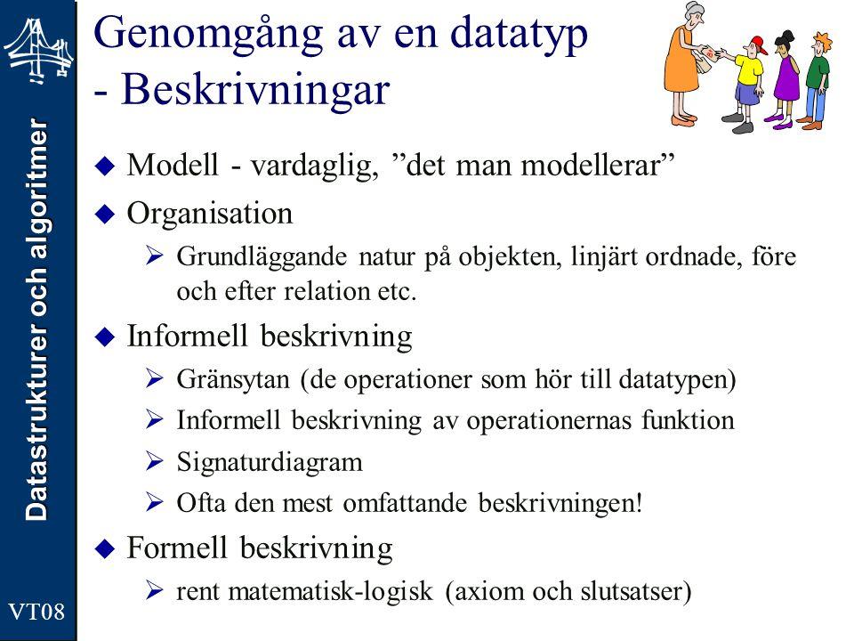 Genomgång av en datatyp - Beskrivningar