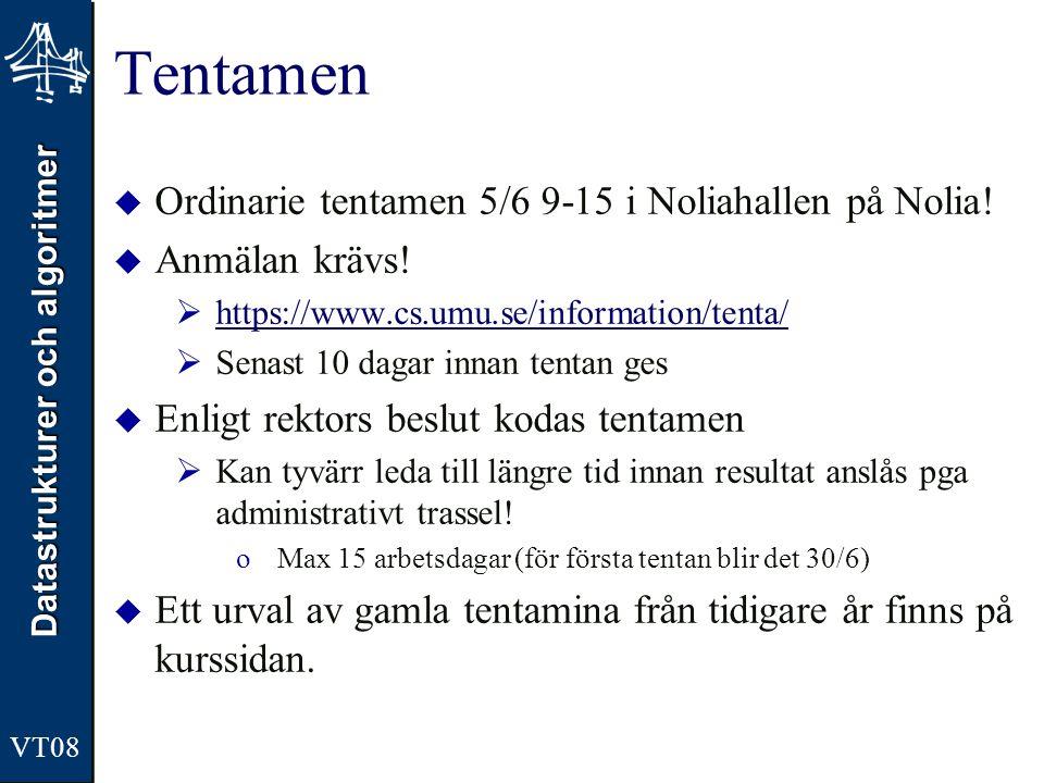 Tentamen Ordinarie tentamen 5/6 9-15 i Noliahallen på Nolia!