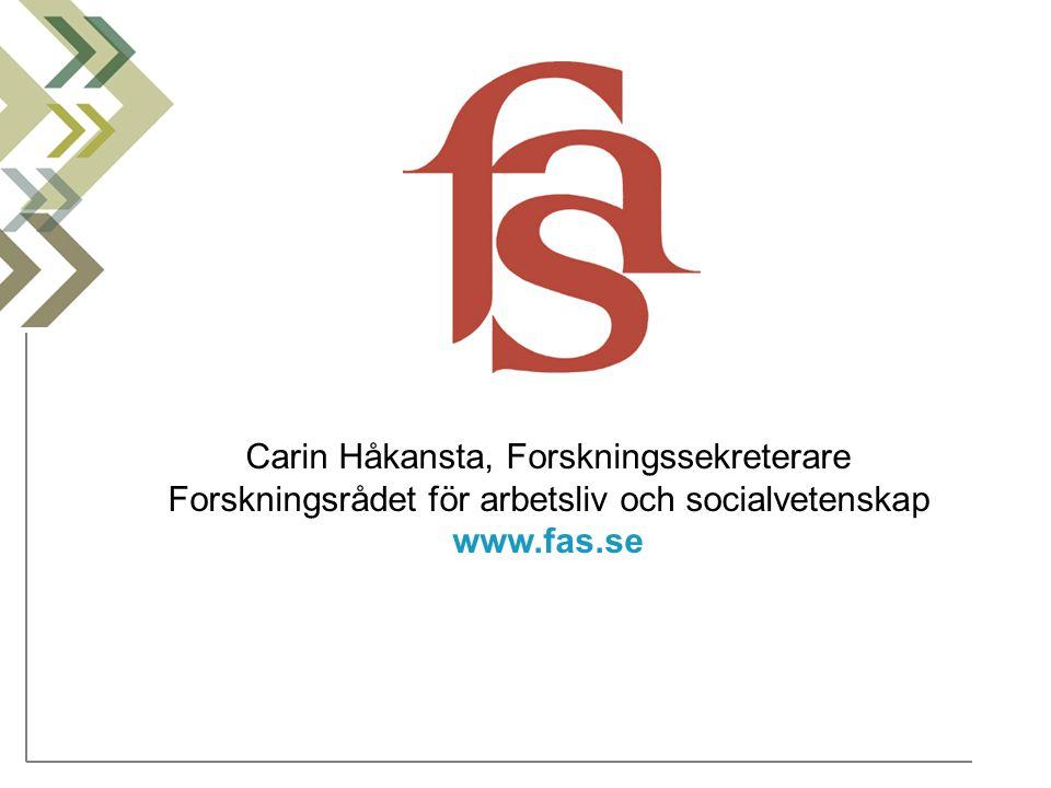 Carin Håkansta, Forskningssekreterare