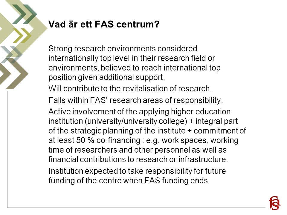 Vad är ett FAS centrum