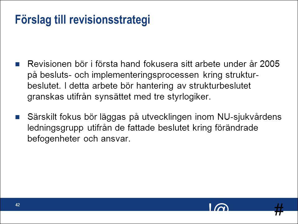 Förslag till revisionsstrategi