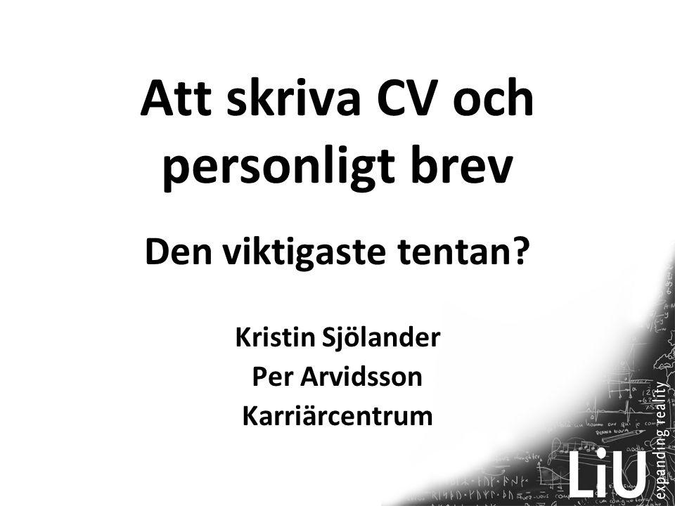 Att skriva CV och personligt brev