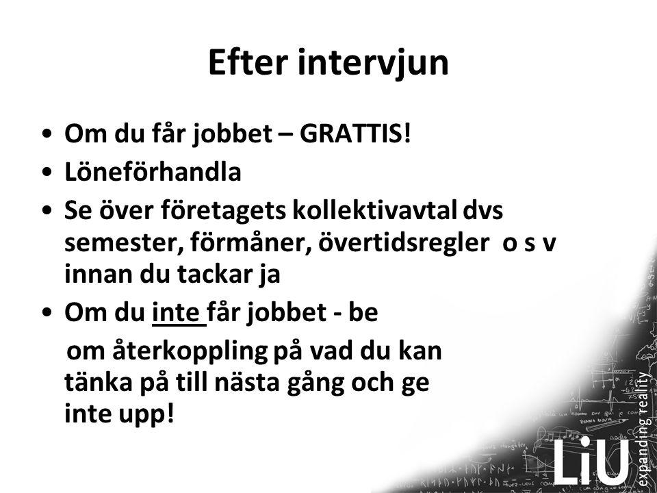 Efter intervjun Om du får jobbet – GRATTIS! Löneförhandla