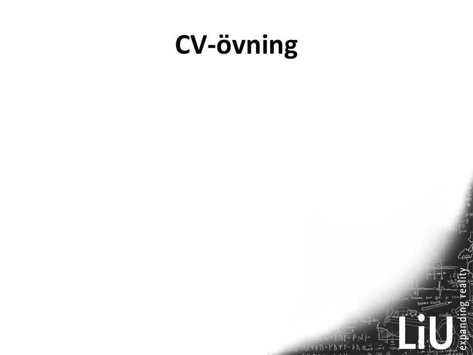 CV-övning