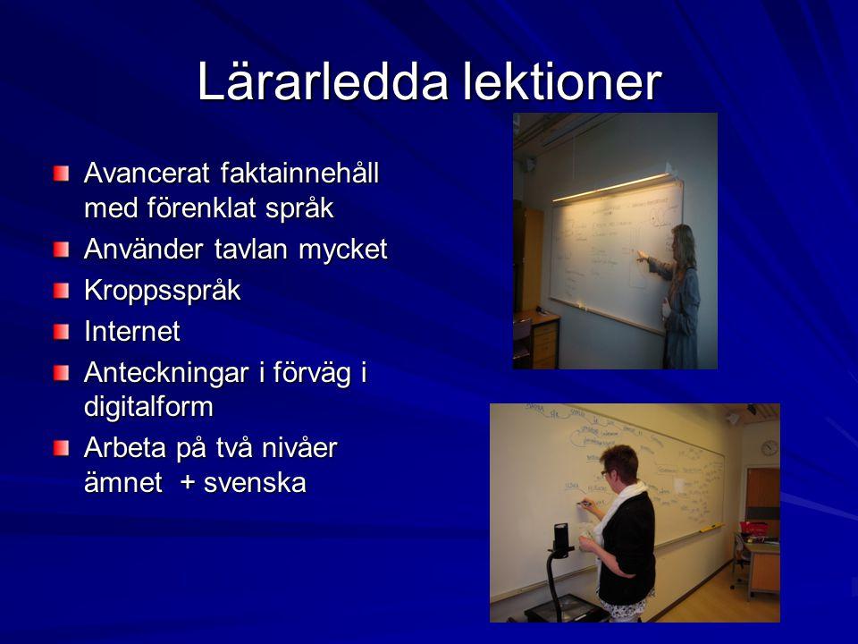 Lärarledda lektioner Avancerat faktainnehåll med förenklat språk