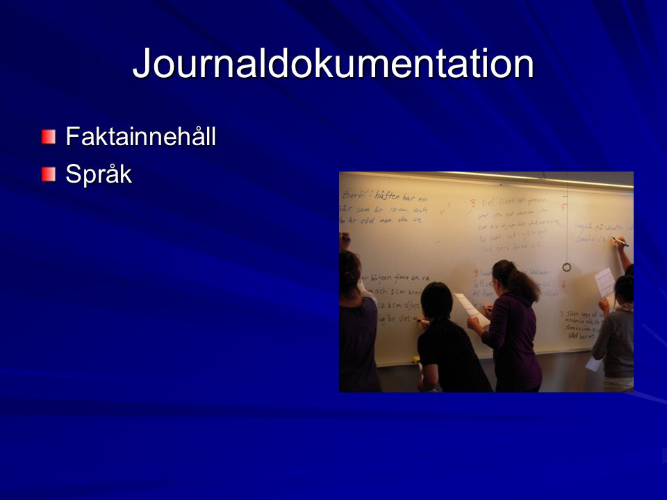 Journaldokumentation