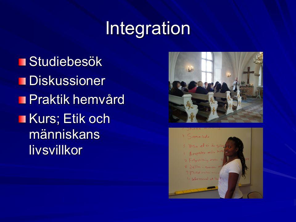 Integration Studiebesök Diskussioner Praktik hemvård