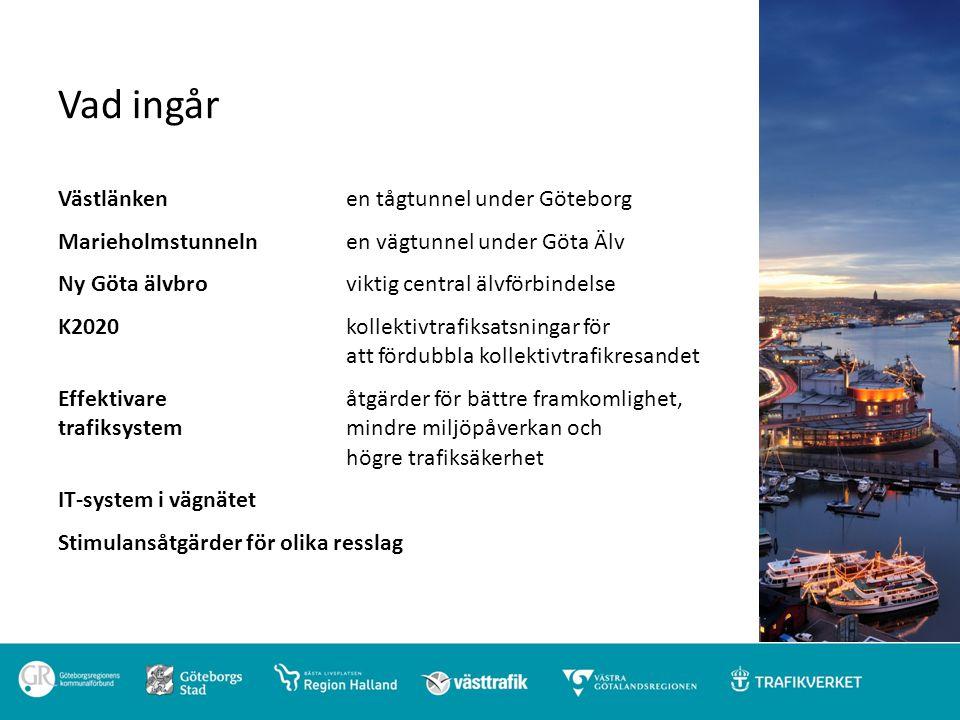 Vad ingår Västlänken en tågtunnel under Göteborg