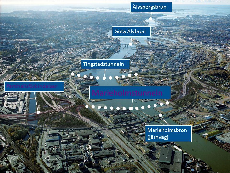 Marieholmstunneln Älvsborgsbron Göta Älvbron Tingstadstunneln