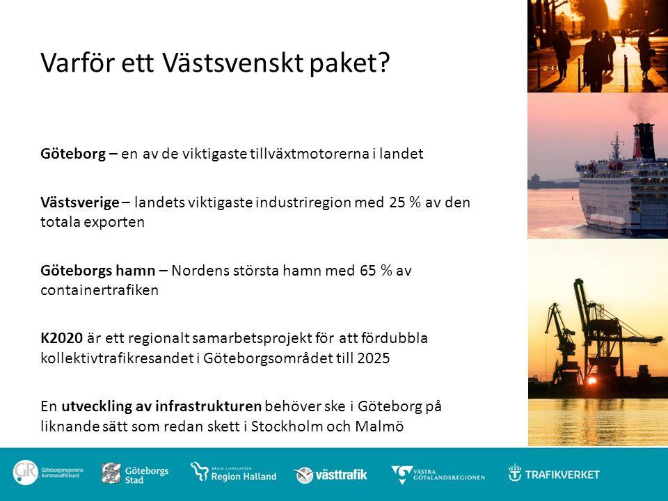 Varför ett Västsvenskt paket