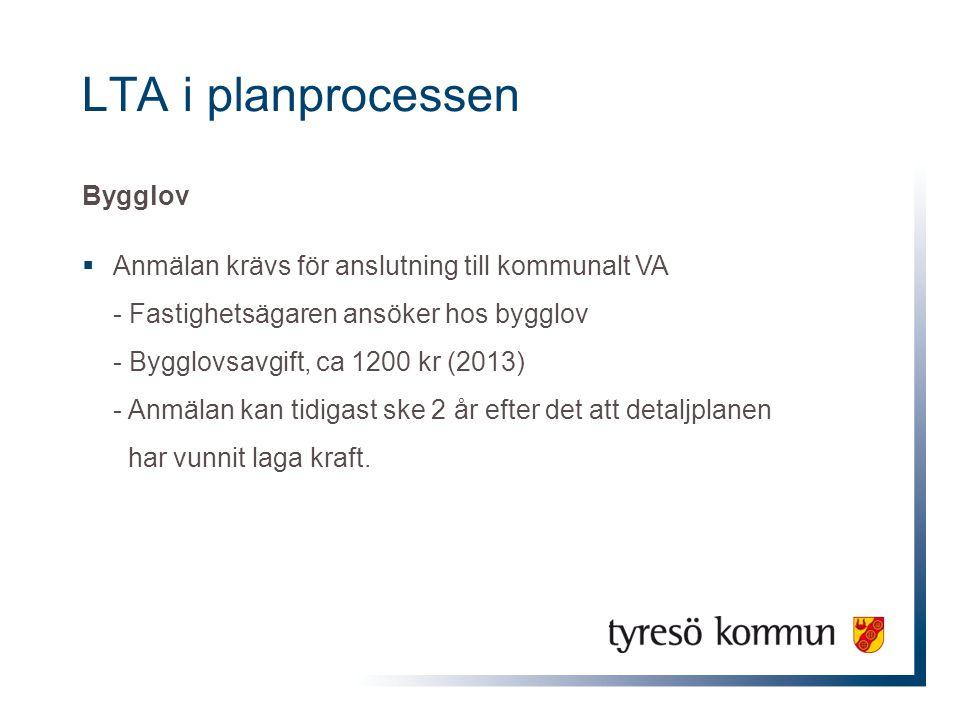 LTA i planprocessen Bygglov