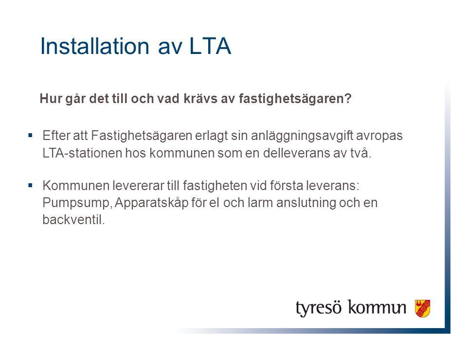 Installation av LTA Hur går det till och vad krävs av fastighetsägaren
