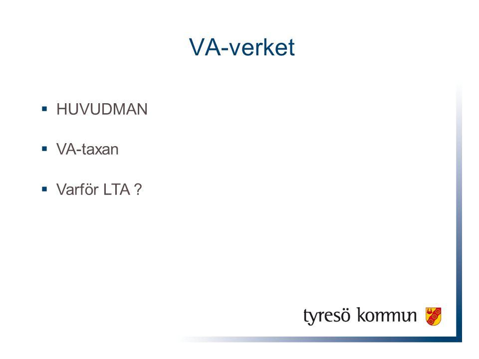 VA-verket HUVUDMAN VA-taxan Varför LTA