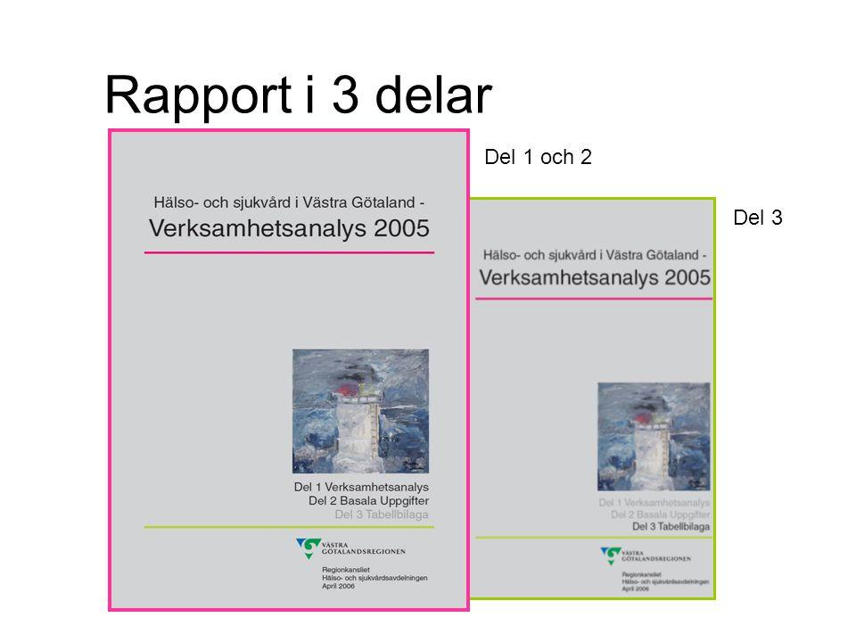Rapport i 3 delar Del 1 och 2 Del 3