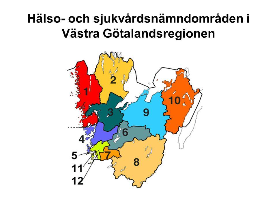 Hälso- och sjukvårdsnämndområden i Västra Götalandsregionen
