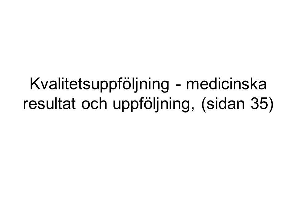 Kvalitetsuppföljning - medicinska resultat och uppföljning, (sidan 35)
