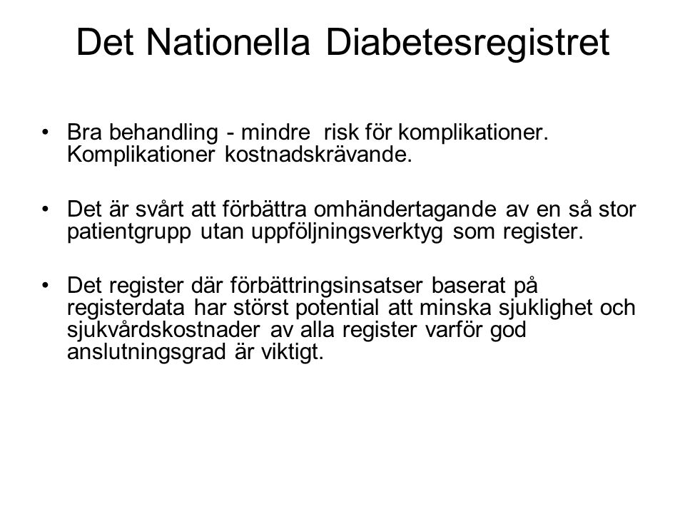 Det Nationella Diabetesregistret