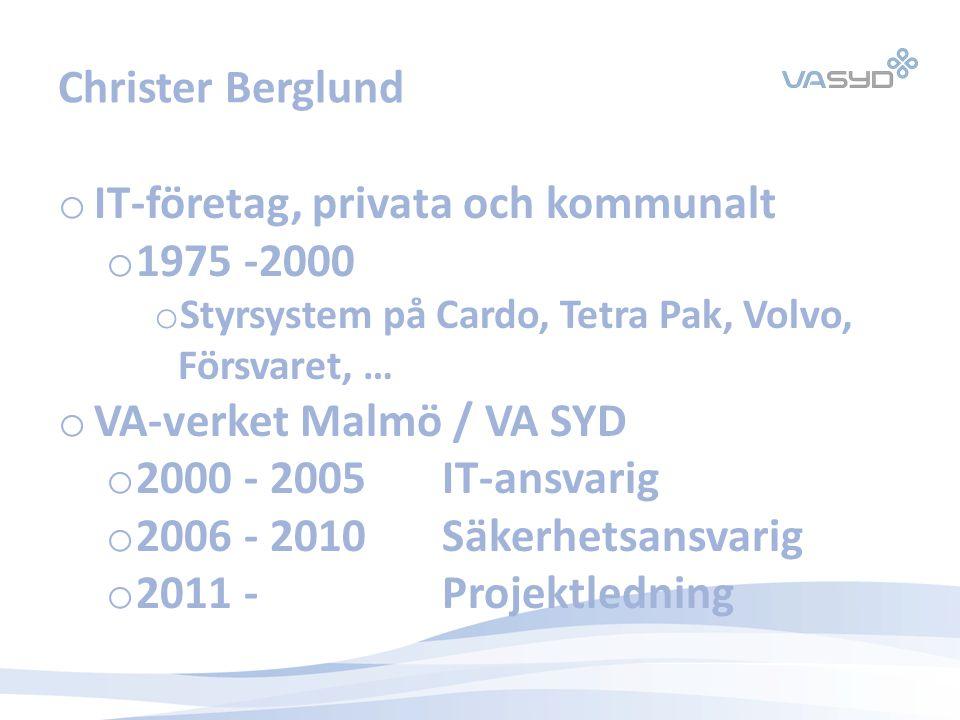 IT-företag, privata och kommunalt 1975 -2000
