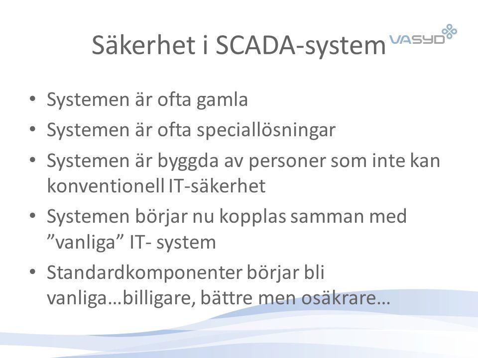 Säkerhet i SCADA-system