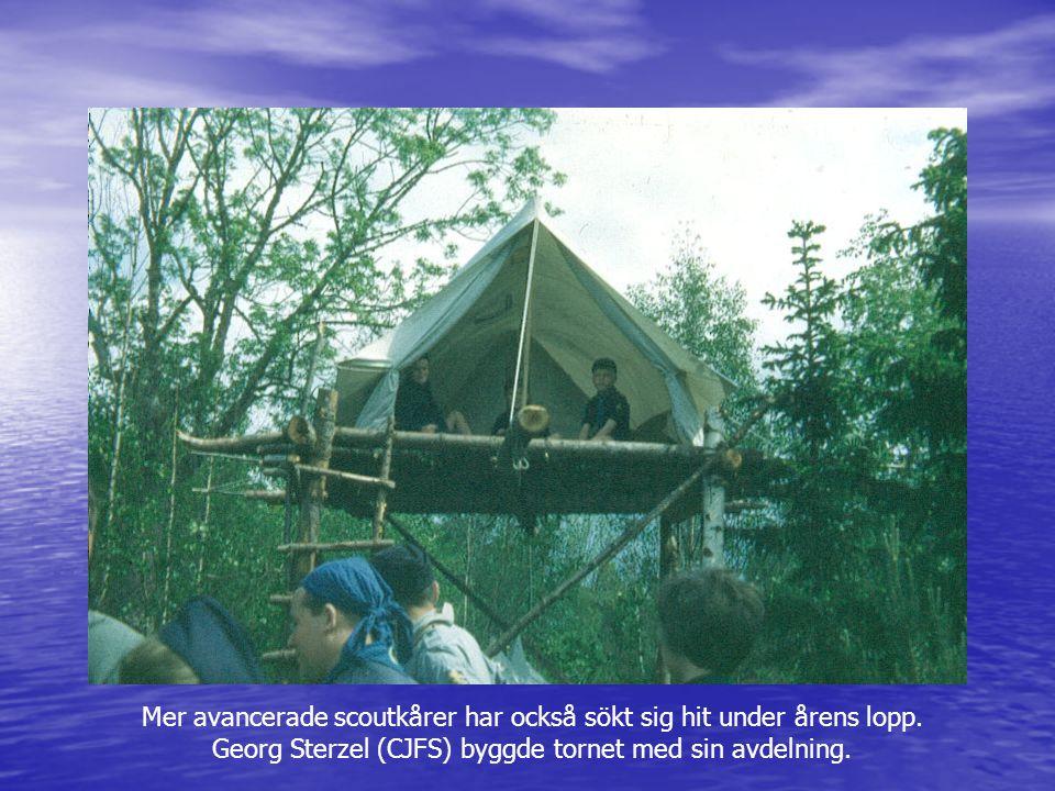 Mer avancerade scoutkårer har också sökt sig hit under årens lopp