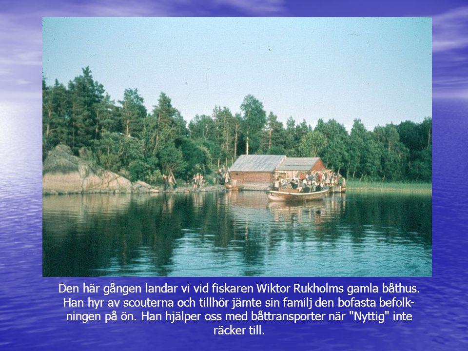 Den här gången landar vi vid fiskaren Wiktor Rukholms gamla båthus