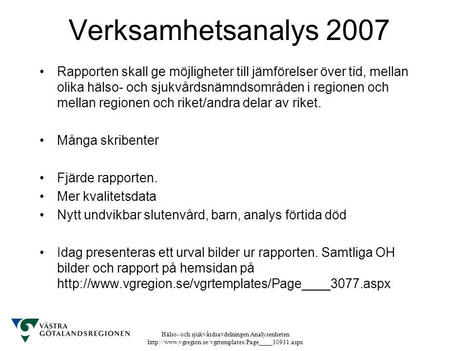 Verksamhetsanalys 2007