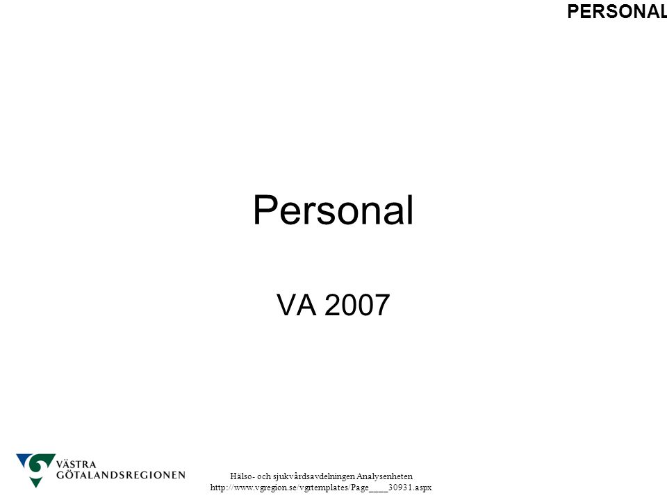 PERSONAL Personal VA 2007