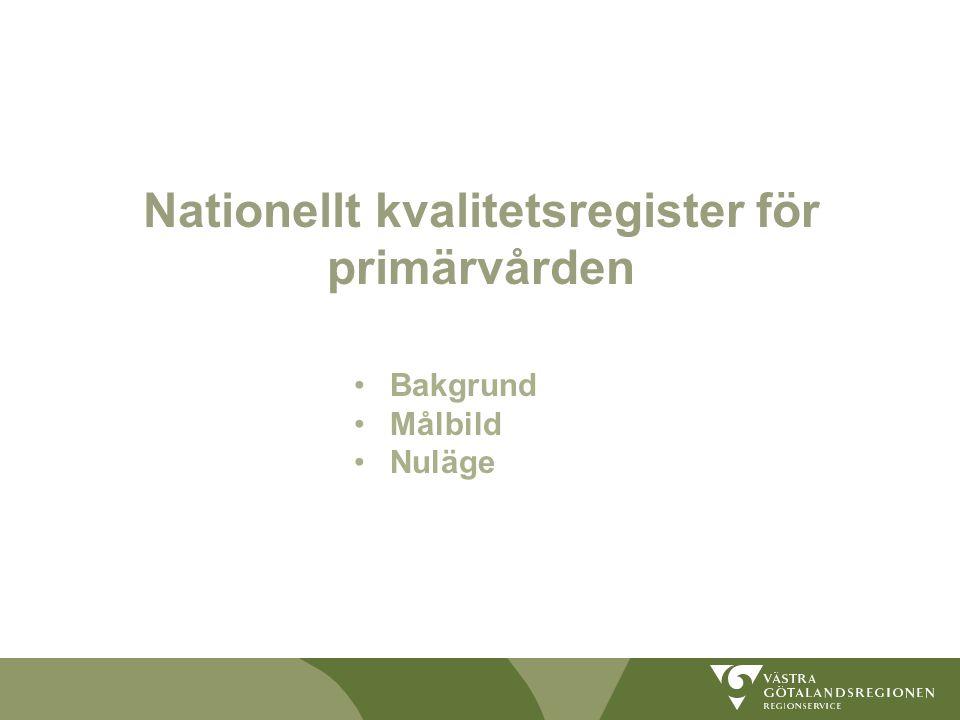 Nationellt kvalitetsregister för primärvården
