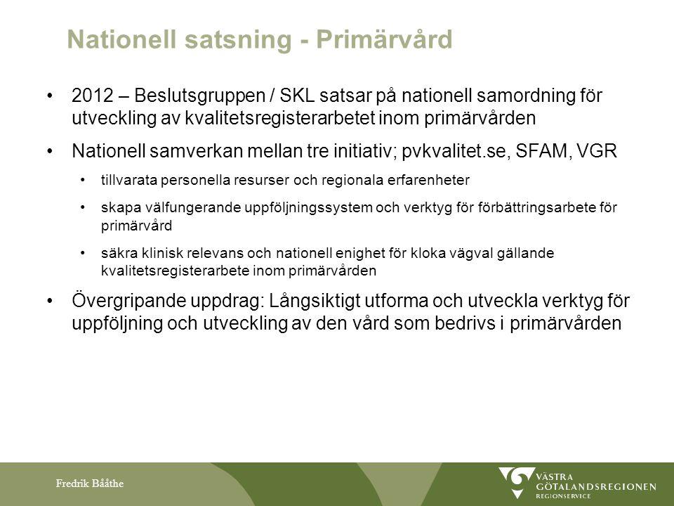 Nationell satsning - Primärvård