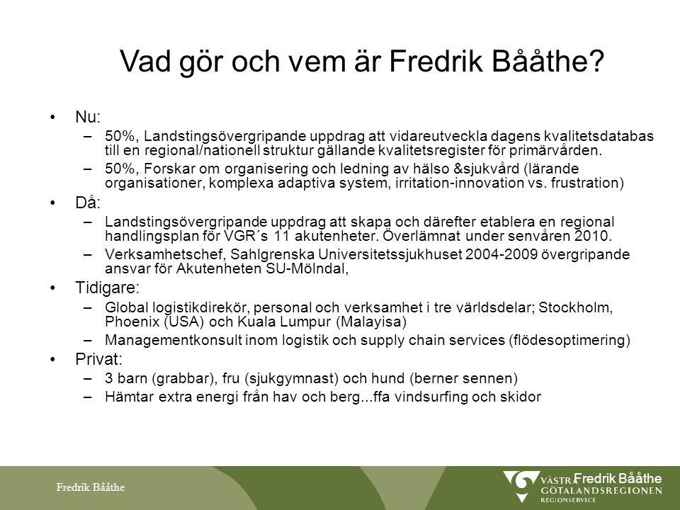 Vad gör och vem är Fredrik Bååthe